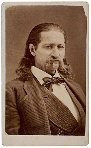 Recently discovered in California, this carte-de-visite of Wild Bill Hickok was made during his visit to Cheyenne, Wyo., in 1874-1875. Taken a year before his death, the rare image has a $10,000-$15,000 estimate. Image courtesy Cowan's Auctions Inc.