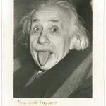 Albert Einstein, photo taken by UPI photographer Arthur Sasse. Image courtesy RRAuction.com.