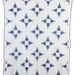 Blue calico was used on this late 19th-century Feathered Star quilt, which sold for $375 in May 2005. Image courtesy Cowan's Auctions Inc. and LiveAuctioneers archive.