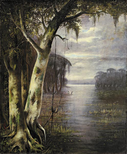 Joseph Rusling Meeker (American/Missouri, 1827-1887) painting is one of the highlights of Neal Auction's summer sale. The 24 by 20 inch 1879 painting depicting Bayou Peyone is one of two oils the artist painted of the Bayou, estimated to bring $20,000/30,000.
