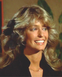Farrah Fawcett in 1977, in her role as Jill Munroe on season 1 of Charlie's Angels. Fair use image, courtesy Wikipedia.