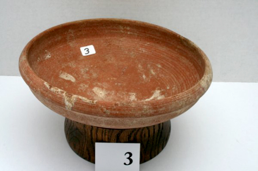 8½-inch by 3¼-inch bowl purchased at an antique shop in Jerusalem. Estimate $40-$500. Image courtesy LiveAuctioneers.com and Old Barn Auction.