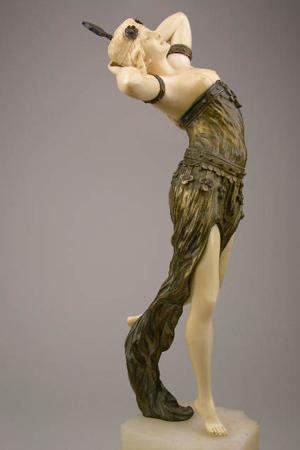 Antique Place's July 5 auction features Art Deco bronze/ivory figures