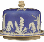 This jasperware dish with fern and cattail decoration sold for $153 at Jackson's Auctioneers of Cedar Falls, Iowa.