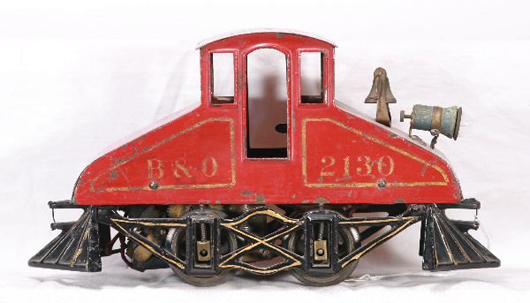 Developed in the United States in the early 1900s, the Steeplecab Electric sometimes pulled interurban cars or served as switchers. Image courtesy New England Toy & Train Exchange.