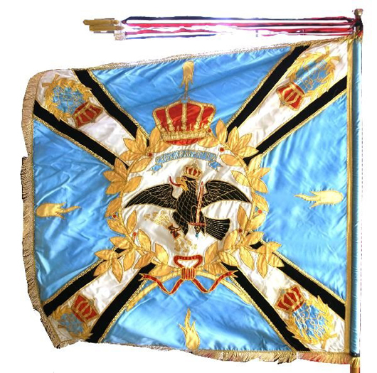The extraordinary quality of this reproduction Prussian infantry regimental colors flag leads Affiliated Auctions to believe it was made for a museum. The flag measures 47 inches square and has a $2,000-$3,000 estimate.