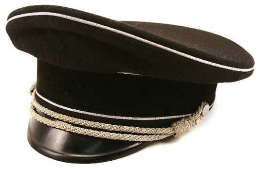 Though it lacks insignia this Allgemeine SS general's cap is rare and desirable. It has a $10,000-$15,000 estimate.