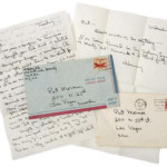 Letters handwritten by gay rights activist Harvey Milk, to be auctioned July 28, 2009. Courtesy Leslie Hindman Auctioneers.