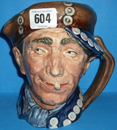 Rare, large Royal Doulton character jug of Pearly Boy. Estimate $1,600-$3,200. Image courtesy LiveAuctioneers.com and Potteries Specialist Auctions.