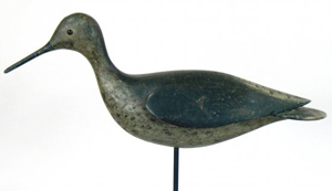 Willet shorebird by John Thomas Wilson (1863-1940). Estimate $75,000-$100,000. Image courtesy LiveAuctioneers.com and Decoys Unlimited.