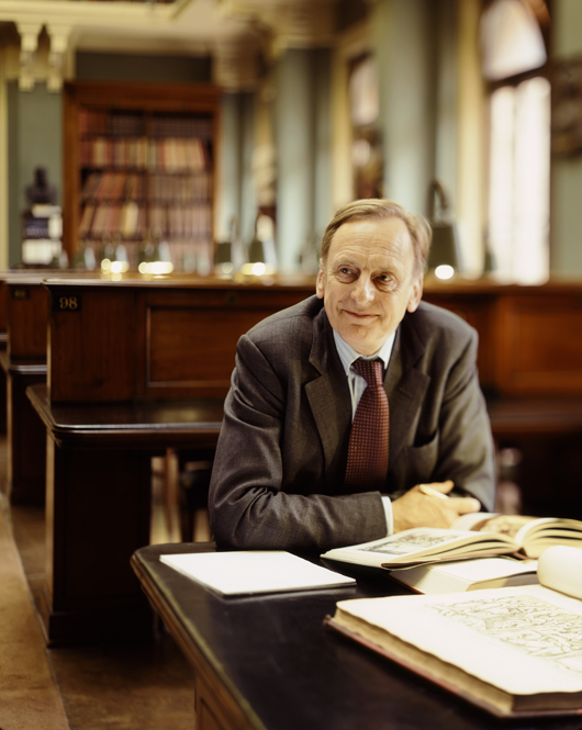 Fig. 4. Julian Radcliffe, chairman of the Art Loss Register, photographed at the Victoria & Albert Library, London. Copyrighted photograph by Graham Trott, © 2006.