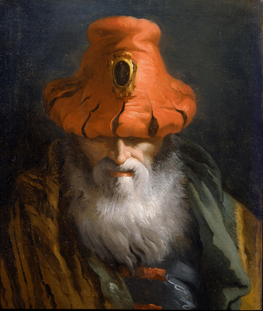 Fig. 5 - Adam Williams Fine Arts of New York will be showing this oil on canvas titled Head of a Philosopher by the 18th-century Venetian painter Giandomenico Tiepolo (1727-1804) at the Florence Fine Art Fair in September.Fig. 5 - Adam Williams Fine Arts of New York will be showing this oil on canvas titled Head of a Philosopher by the 18th-century Venetian painter Giandomenico Tiepolo (1727-1804) at the Florence Fine Art Fair in September.