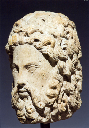 Fig. 7 - At the Florence Fair in September, Galleria Nella Longari of Milan will show this Head of Apostle, circa 1220, in calcareous sandstone, attributed to a Parisian sculptor.