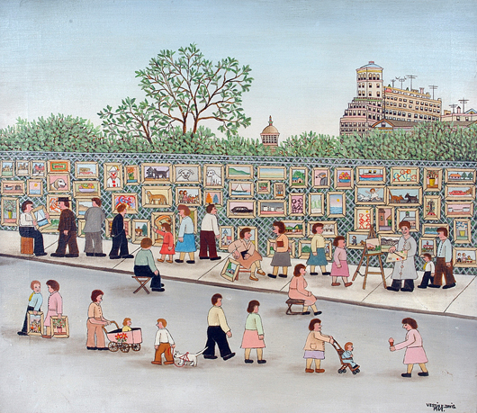 Vestie Davis – Art Fair. Image courtesy Folk Fest/Slotin Auction.