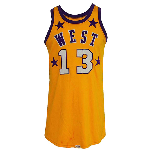 Wilt Chamberlain Western Conference All-Star Game-used home uniform with pristine provenance. Reserve: $25,000.