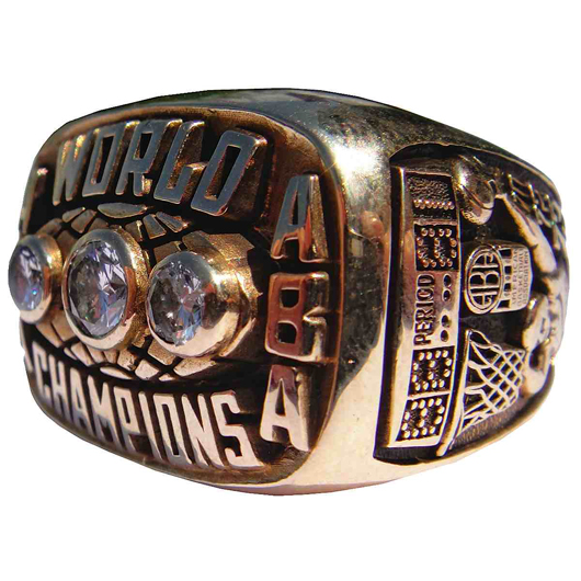 Don Buse's 1972-1973 Indiana Pacers ABA World Championship ring, with Buse letter of authenticity. Reserve: $5,000.