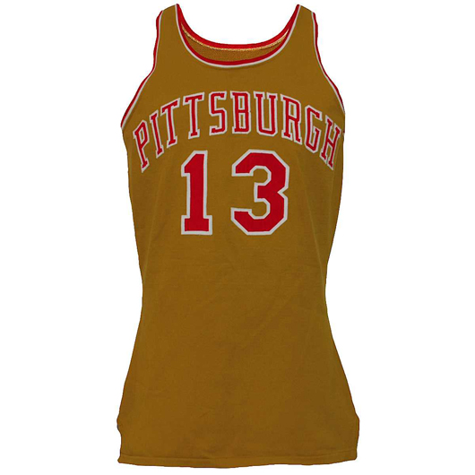 1971-1972 Stew Johnson Pittsburgh Condors game-used road uniform, very rare style, from team that was active for only two years. Reserve: $2,500.