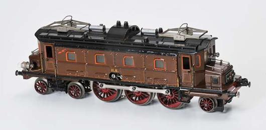 Marklin prewar Germany train car, HS Lok, tin, electrodrive. Estimate $9,800-$14,200. Image courtesy LiveAuctioneers.com and Antico Mondo.