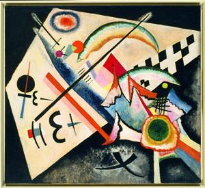 Vasily Kandinsky, White Cross (Weißes Kreuz), January–June 1922. Oil on canvas, 100.5 x 110.6 cm. Solomon R. Guggenheim Foundation, New York, Peggy Guggenheim Collection, Venice 76.2553.34. © 2009 Artist Rights Society (ARS), New York/ADAGP, Paris.