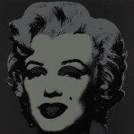 Andy Warhol's Black Marilyn, 1967, artist's proof, screenprint in colors, estimate $175,000-$200,000. Image courtesy LiveAuctioneers.com and Creighton-Davis Galleries.