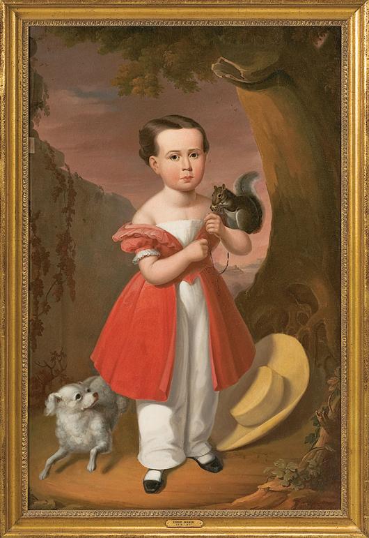 Louis Bahin attributed Southern portrait (est. $8/12,000). Image courtesy Cowan's Auctions.