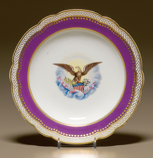 Abraham Lincoln State Service porcelain soup bowl (est. $20/25,000)