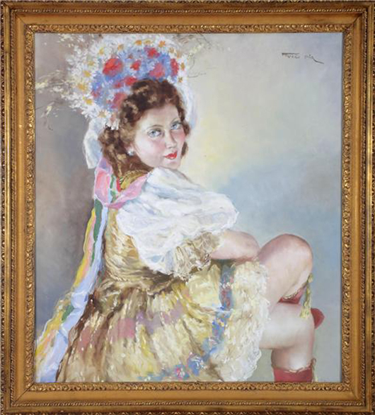 Pal Fried (Hungarian, 1893-1976), Honthy Hanna, oil on canvas, estimate $2,000-$2,500. Image courtesy Aberdeen Auction Galleries.