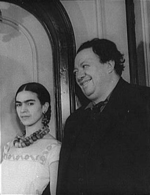 Frida Kahlo and husband Diego Rivera in a photograph taken by Carl Van