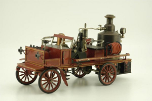 Circa-1912 Marklin steam fire truck, German, 18 inches long, sold for $149,500, top lot at Bertoia's Sept. 25-26 sale of the Donald Kaufman collection, part II. Image courtesy LiveAuctioneers.com and Bertoia Auctions.