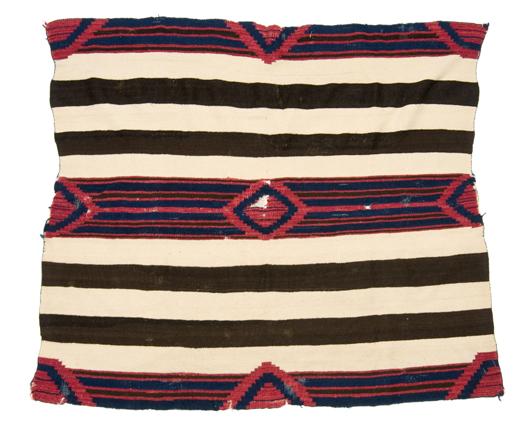 Navajo Third Phase chief's blanket, $16,450. Image courtesy Cowan's