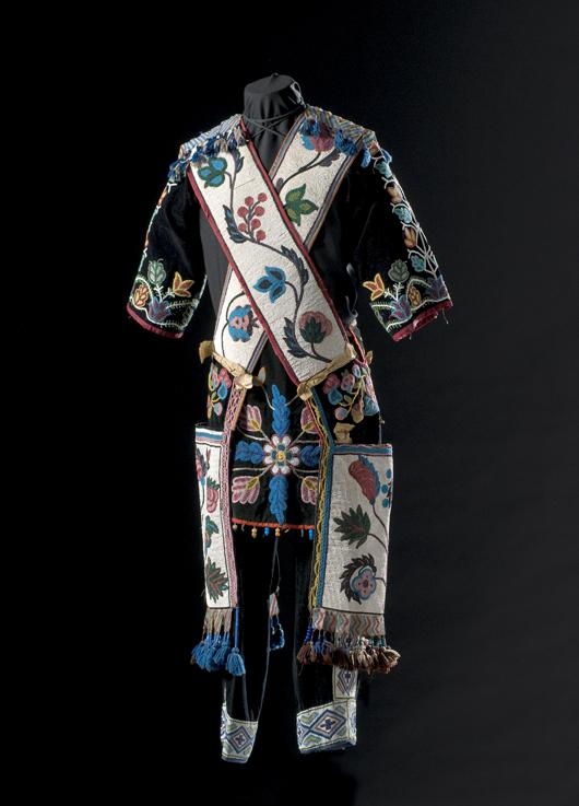 Chippewa man's dance ensemble, $18,800. Image courtesy Cowan's Auctions.
