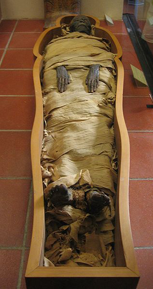 Mummy at The Vatican, photographed Dec. 18, 2006 by Joshua Sherurcij.