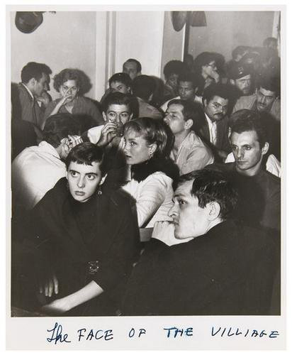 WeeGee, the pseudonym of New York City photojournalist Arthur Fellig, captured the rapt attention of a youthful audience in 'The Face of the Village.' The gelatin silver print, 8 5/8 by 7 5/8 inches, has a $4,000-$6,000 estimate. Image courtesy Bloomsbury Auctions.