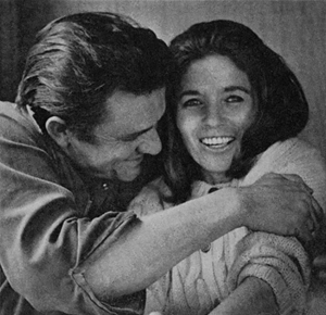 Johnny Cash and June Carter Cash in a 1969 photograph taken by LOOK Magazine photographer Joel Baldwin. Source: Library of Congress, Prints & Photographs Division, Look Magazine Photograph Collection, card number lmc1998005787/PP.