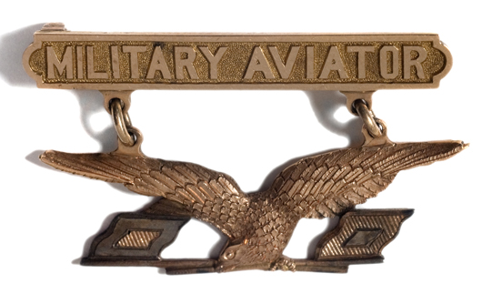 U.S. military aviator's badge, 1913 pattern, estimated to sell for $5/7,000 in Cowan's Nov. 4, 2009 Fall Firearms and Early Militaria Auction.