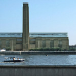 London's Tate Modern gallery as seen from across the Thames. Photo by Hans Peter Schaefer.