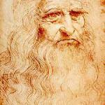 Leonardo da Vinci, as seen in a chalk self-portrait created circa 1512-1515. Courtesy Royal Library, Turin.