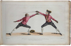 Antique books on fencing, combative arts at Adams Amsterdam, Oct. 24