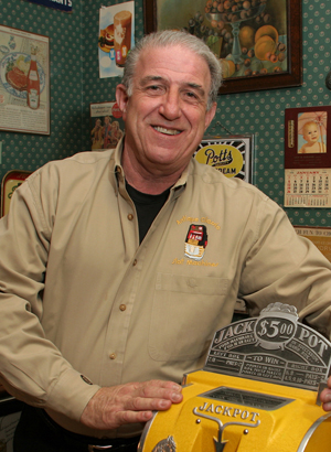Bob Levy, newly appointed department director and specialist in charge of coin-operated gambling machines and related devices at Dan Morphy Auctions. Image courtesy Morphy's.