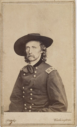 Mathew Brady's portrait of Maj. Gen George A. Custer captures the essence of the soldier's flamboyance and charisma. The carte-de-visite sold for $2,700 in 2007. Image courtesy of Cowan's Auctions.