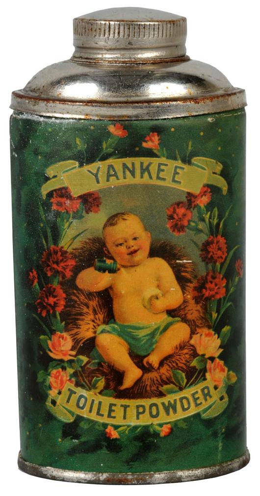 Yankee Talc tin, 4 inches high, $3,250.