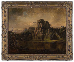 While no image of the painting mentioned in this article is available, here is a fine example of the work of Robert Scott Duncanson (American, 1821-1872). This 1856 oil on canvas titled Robbing the Eagle's Nest sold for $90,000 on Feb. 7, 2009 at Cowan's Auctions. Image courtesy LiveAuctioneers Archive and Cowan's Auctions.