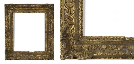 English 18th-century frame. Image courtesy Leslie Hindman Auctioneers.