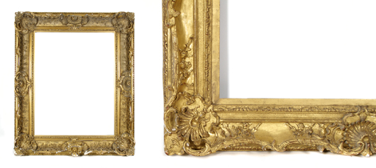 19th-century French frame. Image courtesy Leslie Hindman Auctioneers.