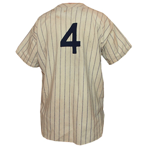 All original circa-1933 Lou Gehrig New York Yankees game-used flannel home jersey. Reserve: $225,000. Image courtesy Grey Flannel Auctions.