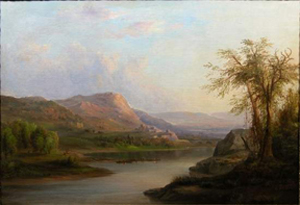 Duncanson painting after restoration. Image courtesy The Eisele Gallery.