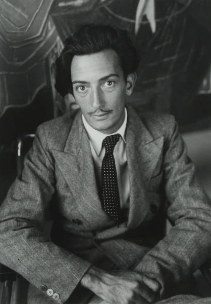 Brassaï, pseudonym Guyula Halasz, photographed many of his artist friends in Paris, including Salvador Dali This silver gelatin emulsion print, 11-3/4 x 8-1/4 inches, is numbered and signed along lower margin '11/30 Brassai.' It has a $2,500-$3,500 estimate. Image courtesy of Fuller Fine Art Ltd.