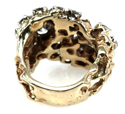 Elvis Presley's offhand remark in 1975 indicated the diamond ring cost $16,000. Image courtesy of Affiliated Auctions.