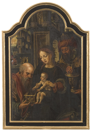 16th- or 17th-century scene, Adoration of the Magi, unidentified Old Master copy, sold for $3,680 at Cowan's.