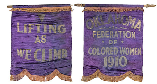 Oklahoma Federation of Colored Women Banners, 1910, estimated to sell for $10/15,000